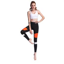 $enCountryForm.capitalKeyWord UK - CHAMSGEND Women's Stitching side stripe printed leggings female hip sports yoga pants slim nine pants running fashion yoga