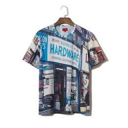 Top Quality T Shirts Australia - New designer mens T shirt box logoTshirt high quality luxury Tshirts men top grocery store printing tees personality street view mans t tee