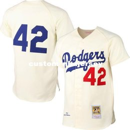 xxl cream NZ - cheap custom Jackie Robinson's jersey Cream Jersey Stitched Customize any number name MEN WOMEN YOUTH XS-5XL