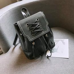 $enCountryForm.capitalKeyWord Australia - woman backpack bag with tassels waterproof pu women messenger bags big shoulder bags for women back pack pu leather free shipping