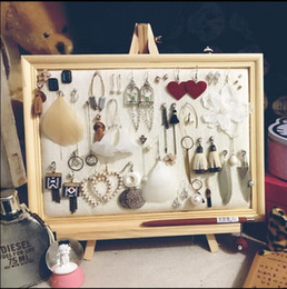 Linen Jewelry Necklace Display Australia - 25*20cm Photo Frame Jewelry Stand Ear Nail Receiving Display Box Ear Ring Frame Necklace Linen cloth Jewelry Display Projects C621