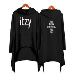 $enCountryForm.capitalKeyWord Australia - ITZY Drop shopping dress fashion women Hooded sweatshirt 2019 new kpop clothes Cool pullover Plus Size