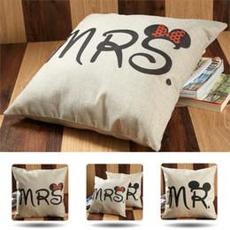$enCountryForm.capitalKeyWord Australia - MR Pillow MRS Pillow Case Cover Wedding decoration party decoration 45x45cm white