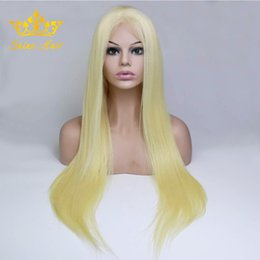 26 Inch Straight Wigs Australia - Shine Hair Lace Front Blonde Straight Brazilian Human Remy Lace Front Wig 8-26 Inch 613 For Women