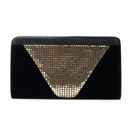 $enCountryForm.capitalKeyWord Australia - High Quality Beading Clutch Women gold velour evening bags for Party famous brand Ladies aluminum handbags black