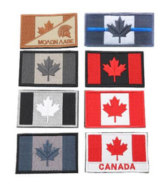 patches badges NZ - Custom Embroidery Canada Flag Quebec Patch Army Tactical Uniform Maple Leaf Badge Bandage Flag Embroidery Patch Wholesale