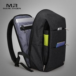 Styles Backpacks Australia - Mark Ryden New Men Backpack For 15.6 Inches Laptop Backpack Large Capacity Stundet Backpack Casual Style Bag Water Repellent Y19061004