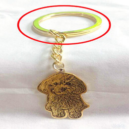 $enCountryForm.capitalKeyWord Australia - Custom Personalized Pet Cat Dog Photo Keychain Pendants Silver Gold Engrave Name Keyring Women Men Jewelry Memorial Gift