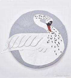 Wholesale INS Fashion Europe Newborn Baby Blanket Cartoon Cute Pattern Baby Game Mat Cotton Blanket Carpet Mat A668