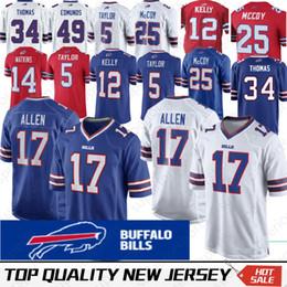 Buffalo 17 Josh Allen Bill Jersey 12 Jim Kelly 25 LeSean McCoy 27 Tre  Davious Blanc 34 Thurman Thomas 49 Tremaine Edmunds aee9bc9da