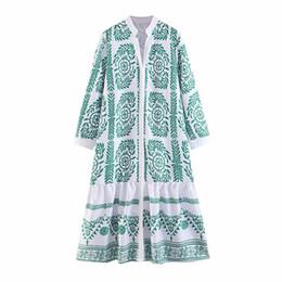 $enCountryForm.capitalKeyWord Australia - 2019 latest design women dresses European and American spring autumn women's printed long dress long-sleeved casual maxi skirts womens wear