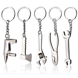 Discount keychain emergency tool wholesale - Creative Metal Mini Tools Keychain Outdoor Adjustable Camping Survival Kit Hiking Emergency Tools Keyring Home Wrench Pe