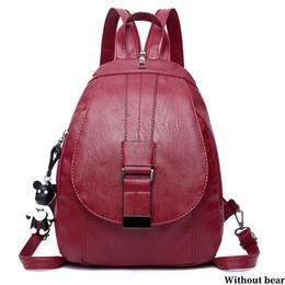 Styles Backpacks Australia - Hangbag School Style Adjustable Strap Women Backpack PU Casual Fabala Shoulder Bag Shopping Detachable Buckle Travel 2 Colors