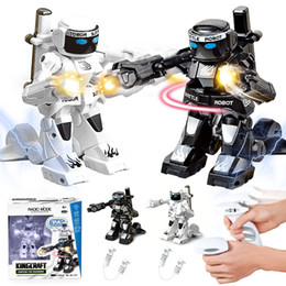 rc boxes NZ - 2.4G RC Infrared Induction Boxing Robots, Gesture Control Two Person Interactive Fight, Simulation Sound& Lights, Xmas Kid Birthday Gift 4-1