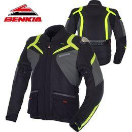 $enCountryForm.capitalKeyWord NZ - BENKIA Motorcycle Jacket Moto Motorbike Racing Jacket Moto Protection Motocross Clothing With Windproof Liner Blouson JW25