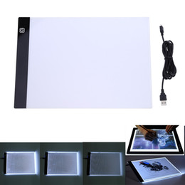 a4 pads UK - LED dimmable Graphic Tablet Writing Painting Light Box Tracing Board Copy Pads Digital Drawing Tablet Artcraft A4 Copy Table LED Board toy