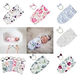 $enCountryForm.capitalKeyWord Australia - Newborn Infant Baby Swaddle Sleeping Bags Baby Muslin Blanket + Headband Baby Soft Cotton Cocoon Sleep Sack Headband 2pcs set 14710