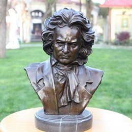 bronze decor Australia - Copper crafts Beethoven characters Home Furnishing Bronze Statue Decor furnishings musicians boutique gift ornaments