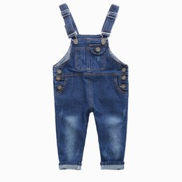 jeans kids suspenders boys 2019 - Boys Jeans Overalls 2019 Fashion Autumn Children Strap Solid Cotton Jumpsuit Casual Kids Girls Clothing Overalls Pants O