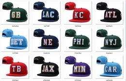 Nouveaux chapeaux Football Snapback Hats 2019 Cap 20 Équipes Ville Chapeaux Mix Match Ordre Tous les casquettes en stock Top Quality Hat Wholesale