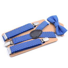 Men's Suspenders Men's Accessories Fan Shape Leather Solid Kids Event Party Suspender Bow Tie Set Adjustable 2.5cm Width Kraft Paper Packed Baby Gift Moderate Price
