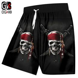$enCountryForm.capitalKeyWord Australia - OGKB Unisex Cool Beach Shorts Print Knife Skull King 3D Board Bebermuda Shorts For Women men High Waist Elastic Boxers Trousers