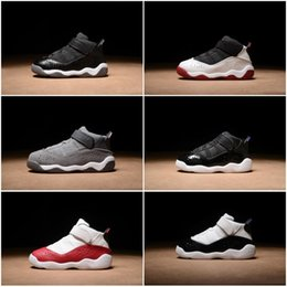 Wholesale New Born Baby Rings Kids Basketball shoes Toddler Shoes Matte Silver White Grey Infant Sneakers Small Boy Girl Children Trainers