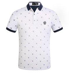 Großhandel 2019 mode luxus mens designer polo t shirts sommer kurzarm umlegekragen kurzarm tops polo shirts