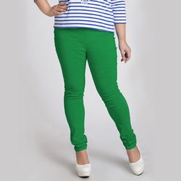 Stretchy Skinny Pants Australia - Hot Sale Female Capris Womens Skinny High Waist Plus Large Size Candy Color Trousers Extra Stretchy Super Elastic Band Pants 6xl