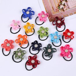 Wholesale New Hot Fashion Cute Flower Acrylic Hair Rings Easy Bear Pouch Egg Watermelon Headwear Rubber Band For Women Girl Gift Cheap