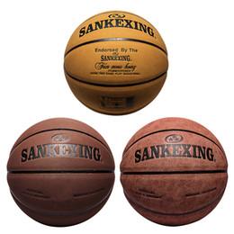 f7a741f3ac4ad Vente chaude Ballon De Ballon En Cuir De Haute Qualité Véritable Molten PU  Matériel Taille 7 Basketball Livraison gratuite