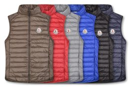 Wholesale feather wear jacket for sale - Group buy Classic Men winter down vest feather weskit jackets mens casual vests coat outer wear man jacket MONCLER F34D