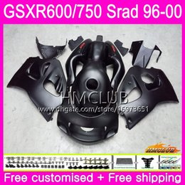 98 Srad Fairing Red Australia - Body For SUZUKI SRAD GSXR 750 600 1996 1997 1998 1999 2000 Kit 1HM.9 GSX-R750 GSXR-600 GSXR750 GSXR600 96 97 98 99 00 Fairing Matte black