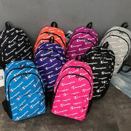 $enCountryForm.capitalKeyWord Australia - Champions Letter Backpack Students School Bags Canvas Shoulder Bag Travel Sport Backpacks Brand Designer Schoobag Laptop Bags Women Rucksack