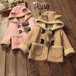 $enCountryForm.capitalKeyWord Australia - good quality 2019 Korean Version Fashion Autumn Winter Cute Rabbit Collar Hooded Warm Padded Coat For Girl Jacket Outerwear 1PC
