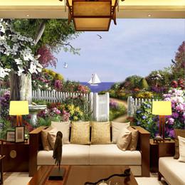 $enCountryForm.capitalKeyWord UK - European oil painting garden wallpaper TV living room bedroom hotel restaurant background wall covering landscape 3D large mural