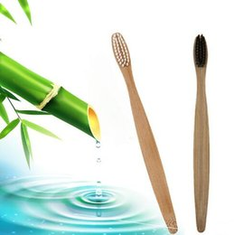 home toothbrush Canada - Wood Rainbow Toothbrush Bamboo Fibre Soft Toothbrushes Wooden Handle Low-carbon Environmentally Adults Oral Hygiene Toothbrsh