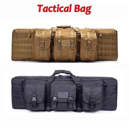TacTical painTball equipmenT online shopping - Hunting Equipment Tactical Bag Airsoft Paintball Air Gun Shooting Rifle Case Molle Pouch Outdoor Camping Hiking Fishing Backpack