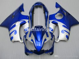 $enCountryForm.capitalKeyWord Australia - Injection moto parts fairing kit for Honda CBR600 F4I 04 05 06 07 blue silver fairings set CBR600 F4I 2004-2007 IY30