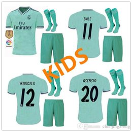 f00267869 kids kit 19 20 Real madrid Soccer jerseys THIRD GREEN 2019 2020 BENZEMA  MODRIC isco MARCELO bale ASENSIO camiseta de futbol FOOTBALL SHIRTS