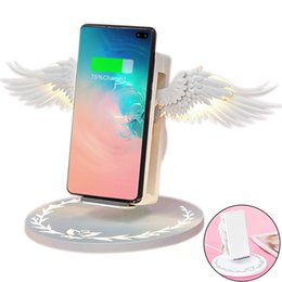 Cool iphone Chargers online shopping - Wireless Charger with TIK Tok the Same Wireless Charger Cool Angel Wings Wireless W Fast Charge