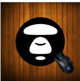 $enCountryForm.capitalKeyWord Australia - Cartoon Top Mouse Pad Mat Non -Slip Rubber Base Oversized Round 23cm Stitched Edges Lol Mouse Pad For Pc Laptop Computer Carpets