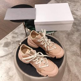 $enCountryForm.capitalKeyWord Australia - Women Floral Sneakers with Neoprene Grosgrain Ribbon, Lace Up Sneaker Designer Lady Wrap-around Rubber Sole Casual Shoes With Box