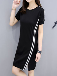 t shirt dress winter Australia - Autumn Dress Short Sleeve Leisure Time T Shirt Skirt