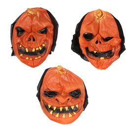 funny adult cartoons NZ - Halloween Pumpkin Skull Mask Halloween Day Masquerade Funny Child Adult Pumpkin Skull Mask Cartoon Pumpkin Masks