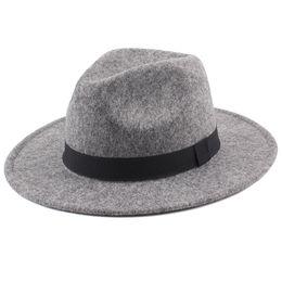 848dff7e1c0e7 2018 Women s Wide Brim Fedora Hat Men Unisex Felt Trilby Hats Wide Brim  Adjustable Fedora Jazz Hat Caps Woolen Felt Vintage Hats D19011103
