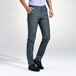 $enCountryForm.capitalKeyWord Australia - 2017 Spring and Autumn Men Pants Fashion Slim Fit Dress Flat Suit Mens Trousers Formal Business Cotton Clothing for Male 29-40