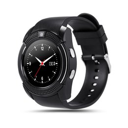 $enCountryForm.capitalKeyWord Australia - V8 Smart Watch Bluetooth Clock With Sim TF Card Slot suitable for ios Android Phone Smartwatch high quality wristband
