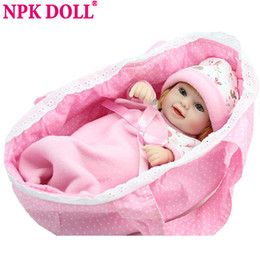 Toy Doll Blankets Australia - Npk Mini Reborn Baby Doll 10 Inch Vinyl Baby Alive Toys Girls Gift Basket Pillow Blankets Outfit Full Silicone Christmas Gift J190508
