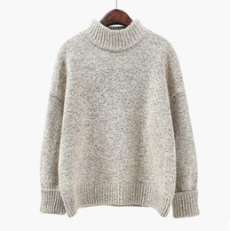 f26698043b Thick oversized Sweaters Women 2018 Winter Fashion Loose pull femme hiver Korean  Pullovers Knitting Christmas Sweater